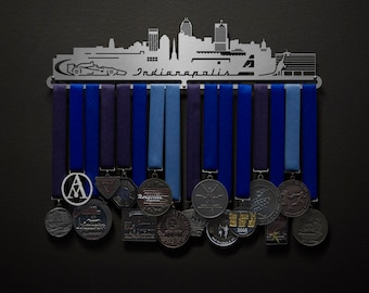 Indianapolis Cityscape - Allied Medal Hanger Holder Display Rack
