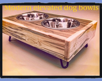 Raised Pet feeder stand/pet bowl stand /elevated dog bowl holder/pet gifts/pet products/dog lovers gifts/ pet products/dog products