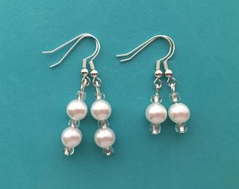 Single or Double Pearl Earrings