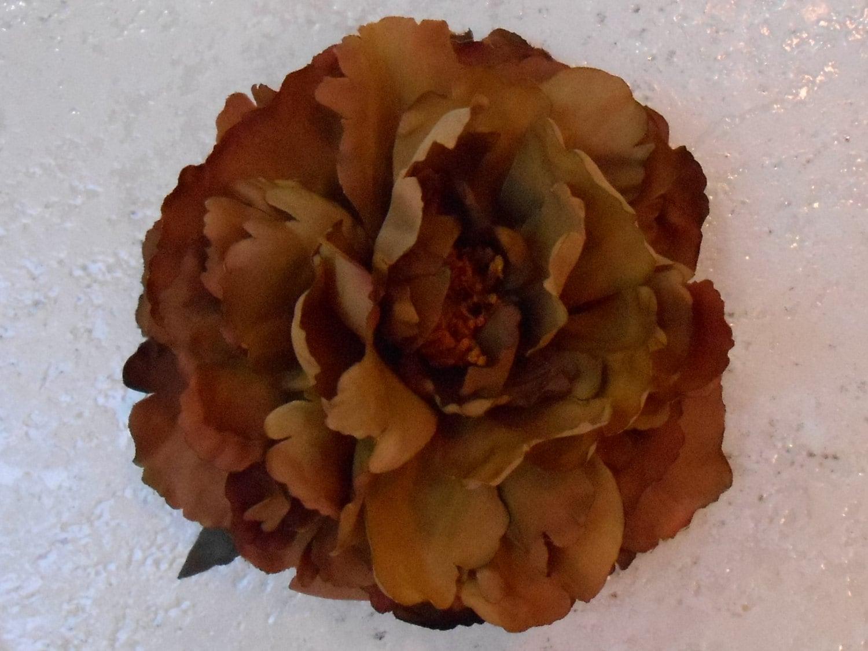 Brown Silk Peony Artificial Flowers Fake Flowers Silk Florals
