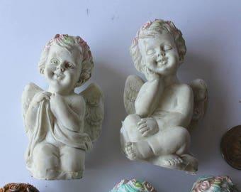 Cherub angel small figurine angel cherub praying angel garden statue, terrarium angel fairy garden angel kneeling praying cherub mini garden
