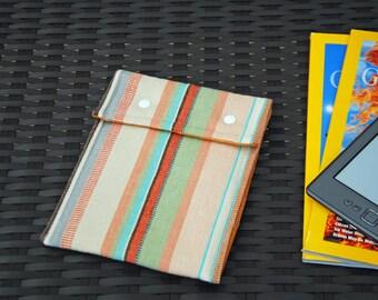Kindle Case (Orange Candy Stripes)