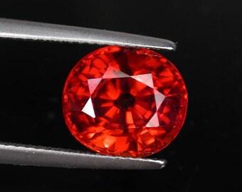 6.1 ctw. mandarin spessatite garnet loose gemstone.