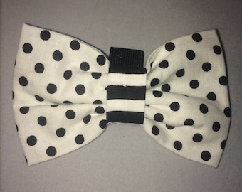 handmade dog bow tie spots and stripes
