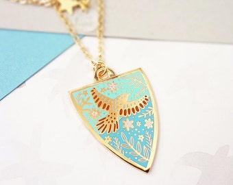 Spring Personalised Birthstone Pendant - Gold