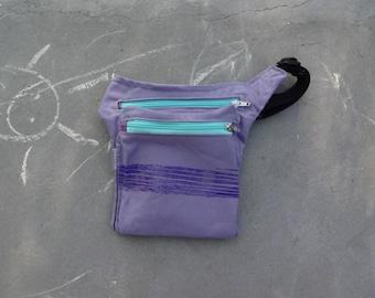 Hip Bag For Kids Back to School Bag Girls Fanny Pack Violet Belt Pocket Purple Waist Pouch