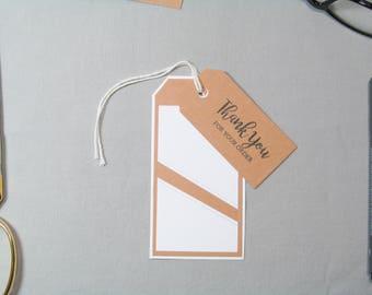 Business Thank You Tags - Small Business Tags - Angled Edge Tags - Handmade Seller Tags - Angled Thank You Tags – Handmade Business Tags