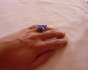 triangular star ring