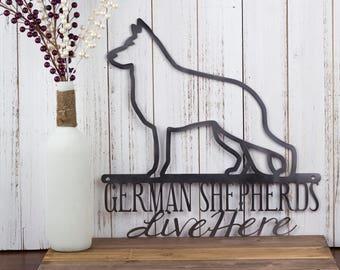 German Shepherd Metal Wall Art | Metal Sign | Metal Wall Decor | Wall Hanging | Dog Sign | Gift | Sign | Dog Lover | Wall Art | Wall Decor