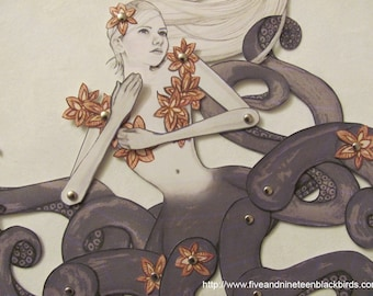 """Sea Witch/Octopus Paper Doll-10"""""""