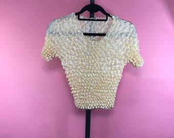 90's Popcorn Crinkled Shirt
