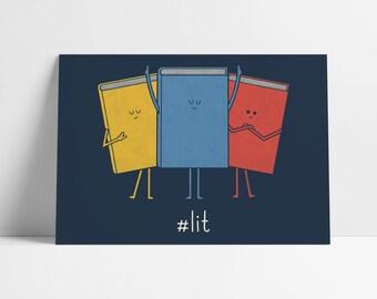 Lit A5 Art Print