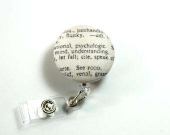 NEWSPAPER fabric badge reel, Button badge reel, Nurse badge reel, Retractable badge reel, Physiology button reel
