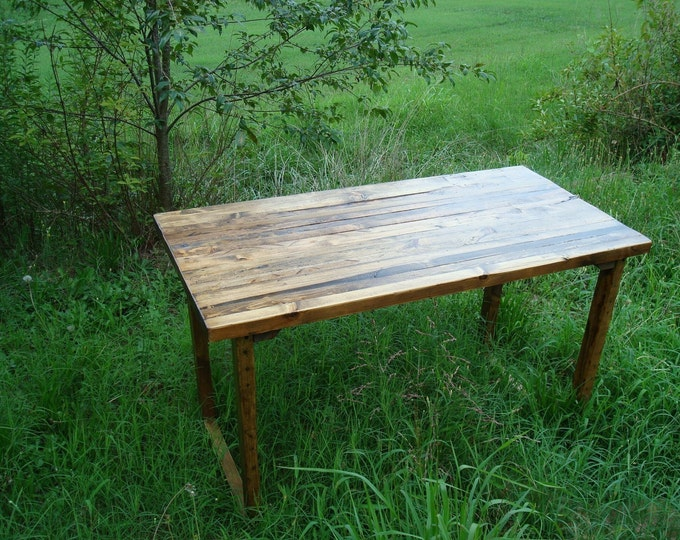 Dining Table Wood Table Reclaimed Barnwood Table Rustic Wood Table