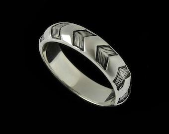 Narrow Chevron Ring Band  2512S