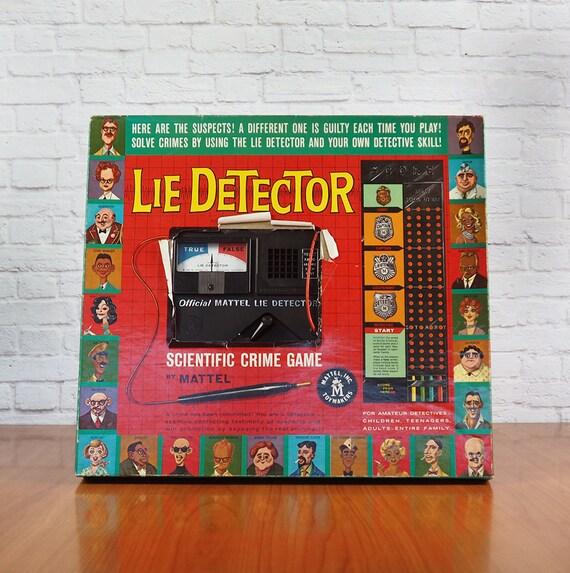 1960 Mattel Lügendetektor Wissenschaftliche Verbrechen Spiel