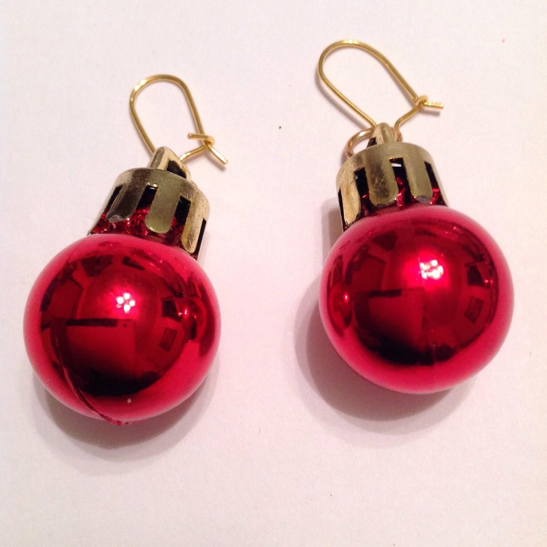 Christmas Ornament Earrings Bauble