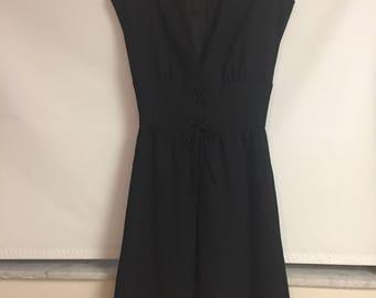 Mollie Parnis Boutique Designer Black Linen Dress/JUST REDUCED/Mid Century Little Black dress/ Designer Dress/ Morty Sussman/By Gatormom13