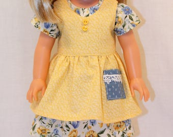 L'il Miss Sunshine - Dress and Apron, 14.5 Inch Doll Clothing