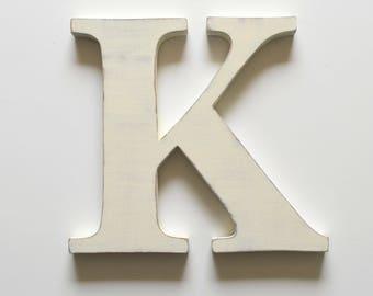Wooden Letter K 12 inch Nursery Letter Wood Letter
