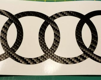 Audi Vinyl Decal - 4,6,8 inch - Many color choices