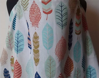 Nursing Cover, Breastfeeding cover, Nursing Cover Up, Car seat cover Up, Canopy, Natural Feathers Breast Feeding Cover
