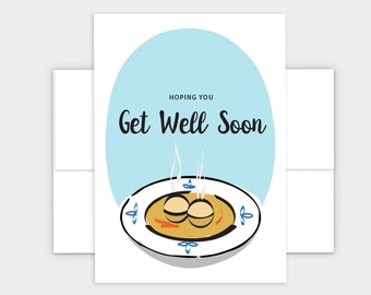 Matzo Ball Greeting Card - Jewish Get Well Card