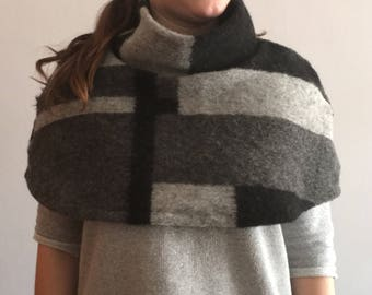 wool Cape with Turtleneck