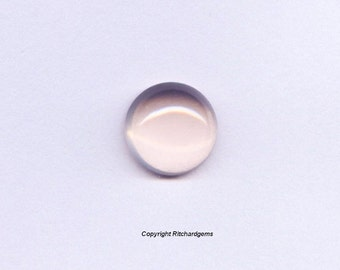 10 mm Loose Round Cut 3.5 ct Natural Pink Rose Quartz Cabochon for One