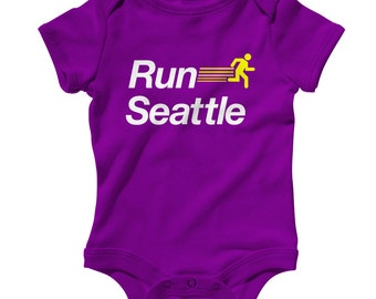 Baby Run Seattle V2 Romper - Infant One Piece - NB 6m 12m 18m 24m - RUN SEA Baby - 4 Colors