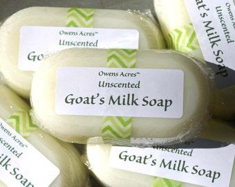 Handmade Soap, Unscented Goat's Milk Soap, Simple Soap, Unscented, Sensitive Skin, Babies, Mild Soap
