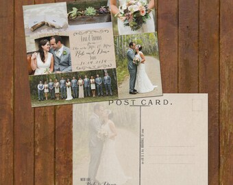 Personalised Wedding Thank You Card Set Of 20 Rustic Thank You