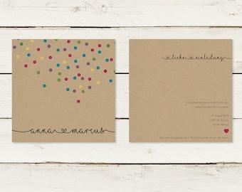 Wedding Invitation | Kraft Paper | Square | No 2