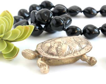 Brass Turtle Ring Box, Jewelry Holder