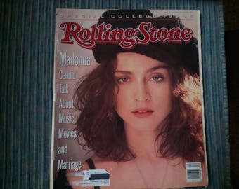 """Rolling Stone magazine issue 548 Madonna March 1989 """"Candid talk about movies,music and marriage"""""""