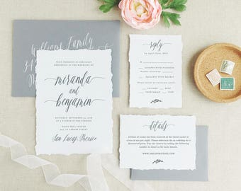 Wedding Invitations Template, Printable Wedding Invitation, Rustic Invitation Suite | Edit in Word or Pages