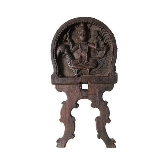 Kavadi Kartikeya wood panel - India - 19/20th century