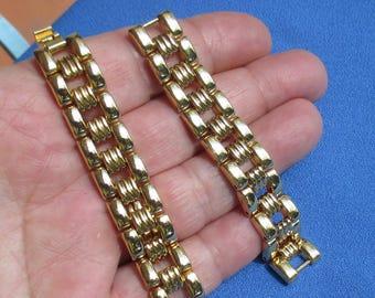 Retro  Bracelet Or Watch Metal Linked Band