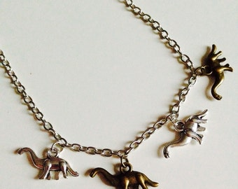 Sale | Dinosaur | T-rex | Diplodocus | Jurassic World | Charm | Necklace