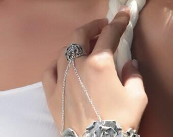 Boho Bangle Bohemian Bangle Boho Jewellery Silvered Bangle