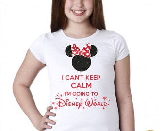 I can't keep calm I'm going to disney - Magicaly Shirt -  Glitter Shirt