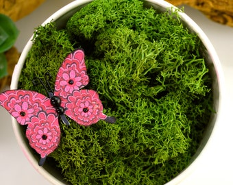 Reindeer Lichen Moss ~ Preserved and Colored ~ Dark Green Moss ~ Available in 2 Sizes ~ SMALL 3 x 4 Inch Bag or LARGE 4 x 6 Inch Bag