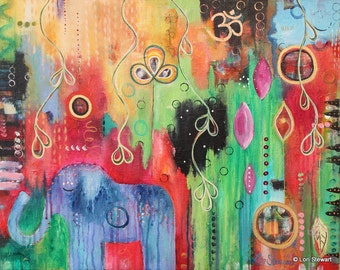 Jungle Dreamz: Original Acrylic Painting 16x20