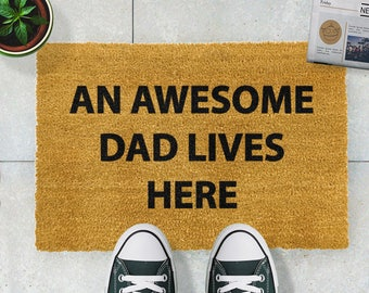 Awesome Dad doormat - 60x40cm - Father's Day Door Mat