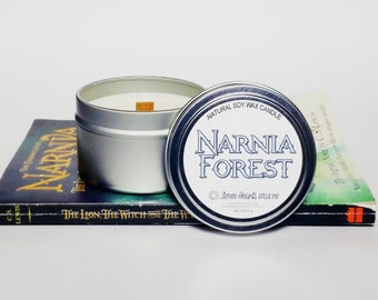 Narnia Soy Candle  - Book Candle - Soy Candle  - Book Lover Soy Candle - 6 oz Tin