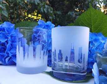 St Louis On The Rocks, (Set of 2),Old Fashioned,Gift for him,House warming gift,Skyline design,St Louis