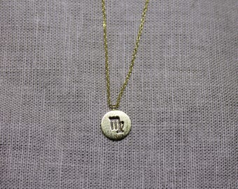 VIrgo Zodiac Sign Dainty Necklace