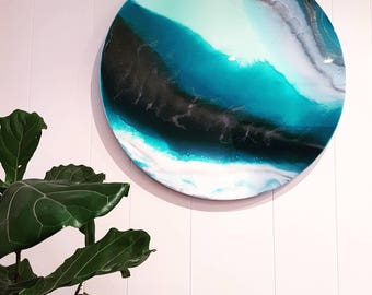 Resin Art Porthole- 'Tranquil Sea'