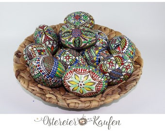 1 Hand Painted Easter egg wax technique traditional technique Easter eggs painted