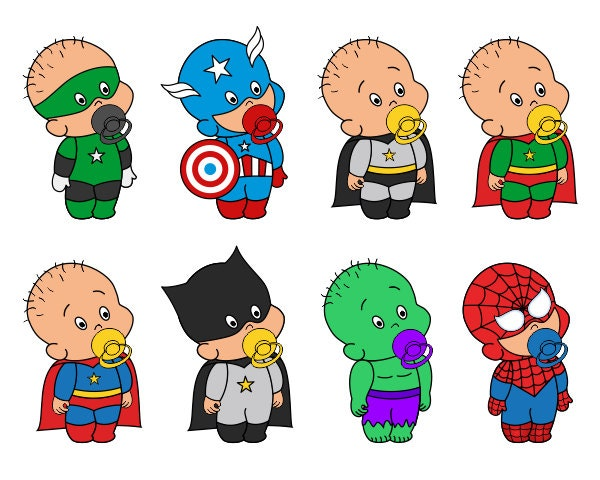 Cute Baby Superheroes